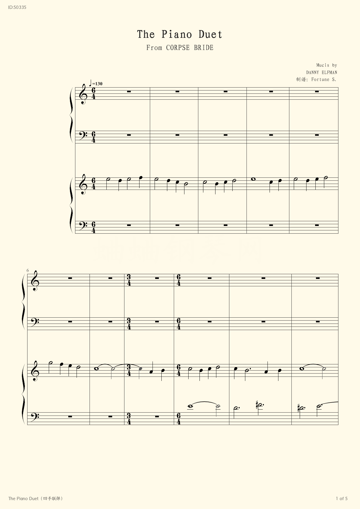 The Piano Duet  - Movies - first page