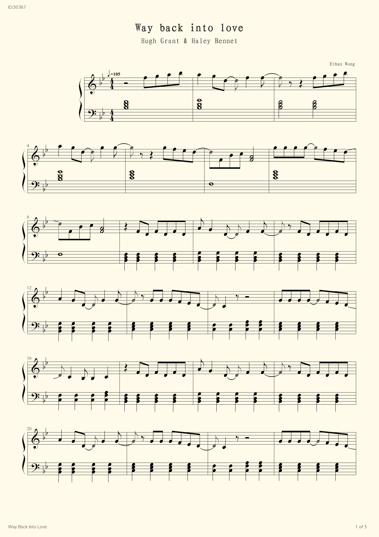 Way Back Into Love - Movies - first page