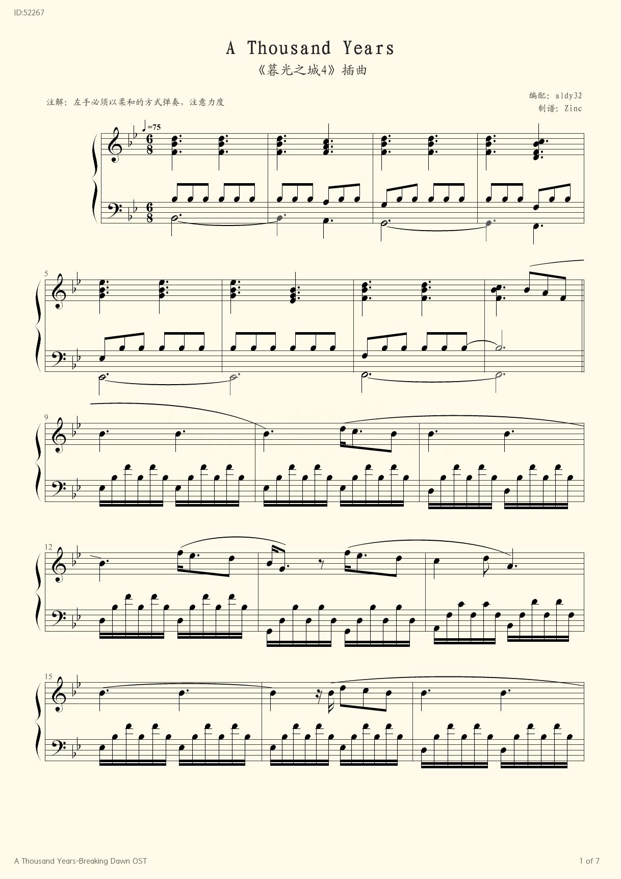 how to play christina perri a thousand years on piano
