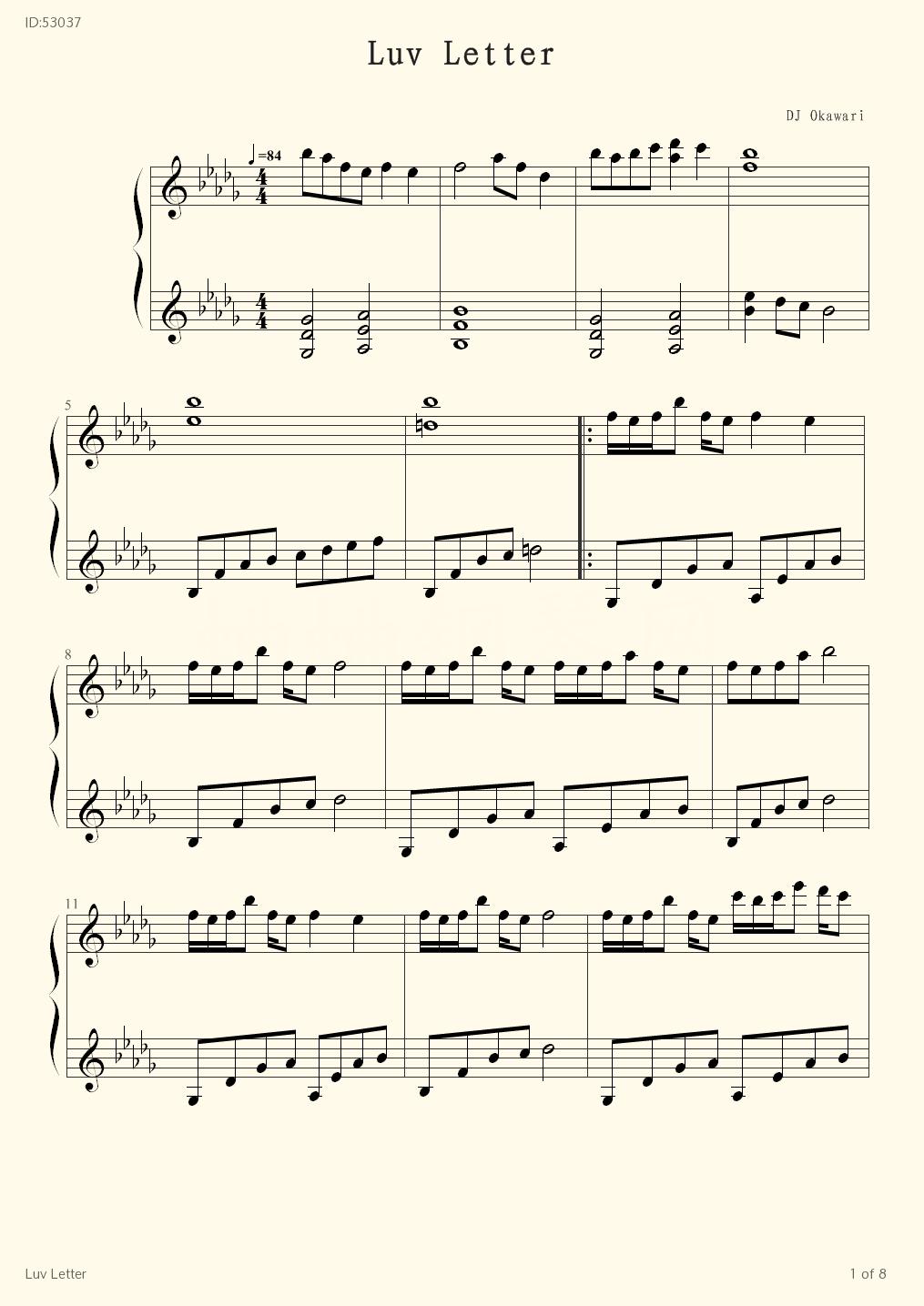 Luv Letter - Dj Okawari - first page