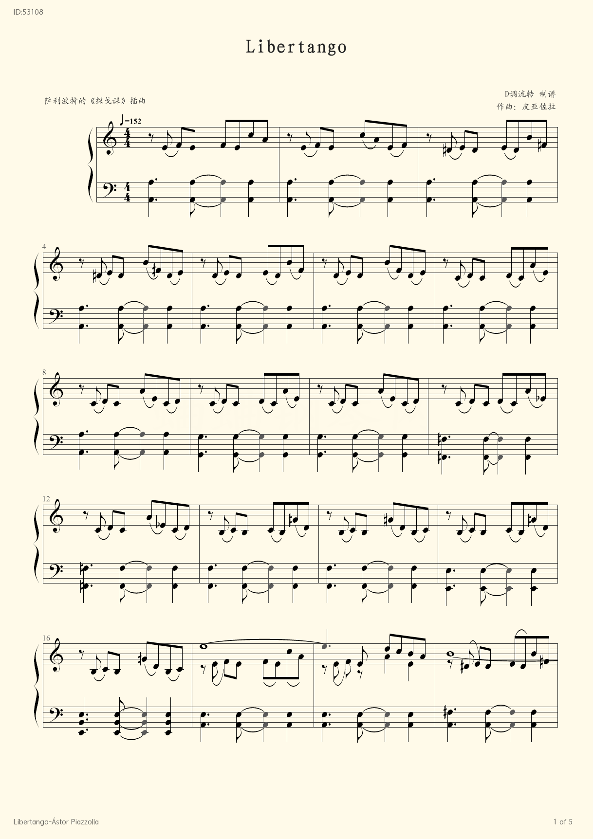 Libertango stor Piazzolla -  stor Piazzolla - first page