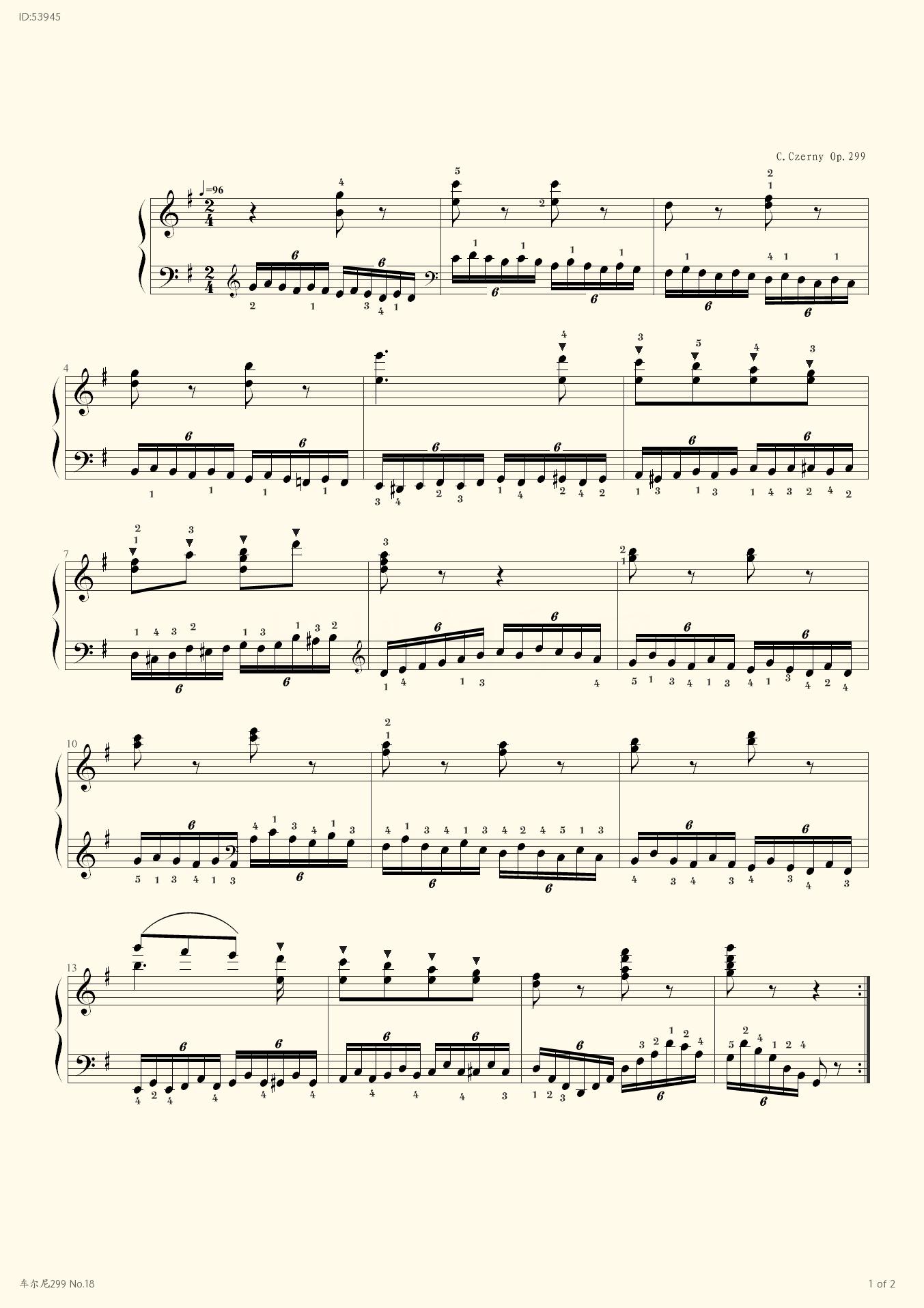299 No 18 - Czerny - first page