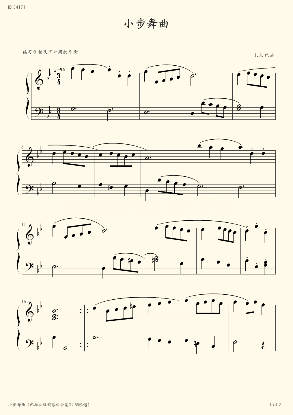 02  - Bach - first page