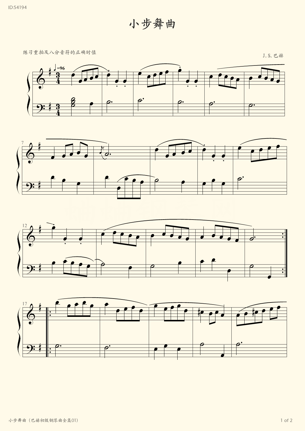 01 - Bach - first page
