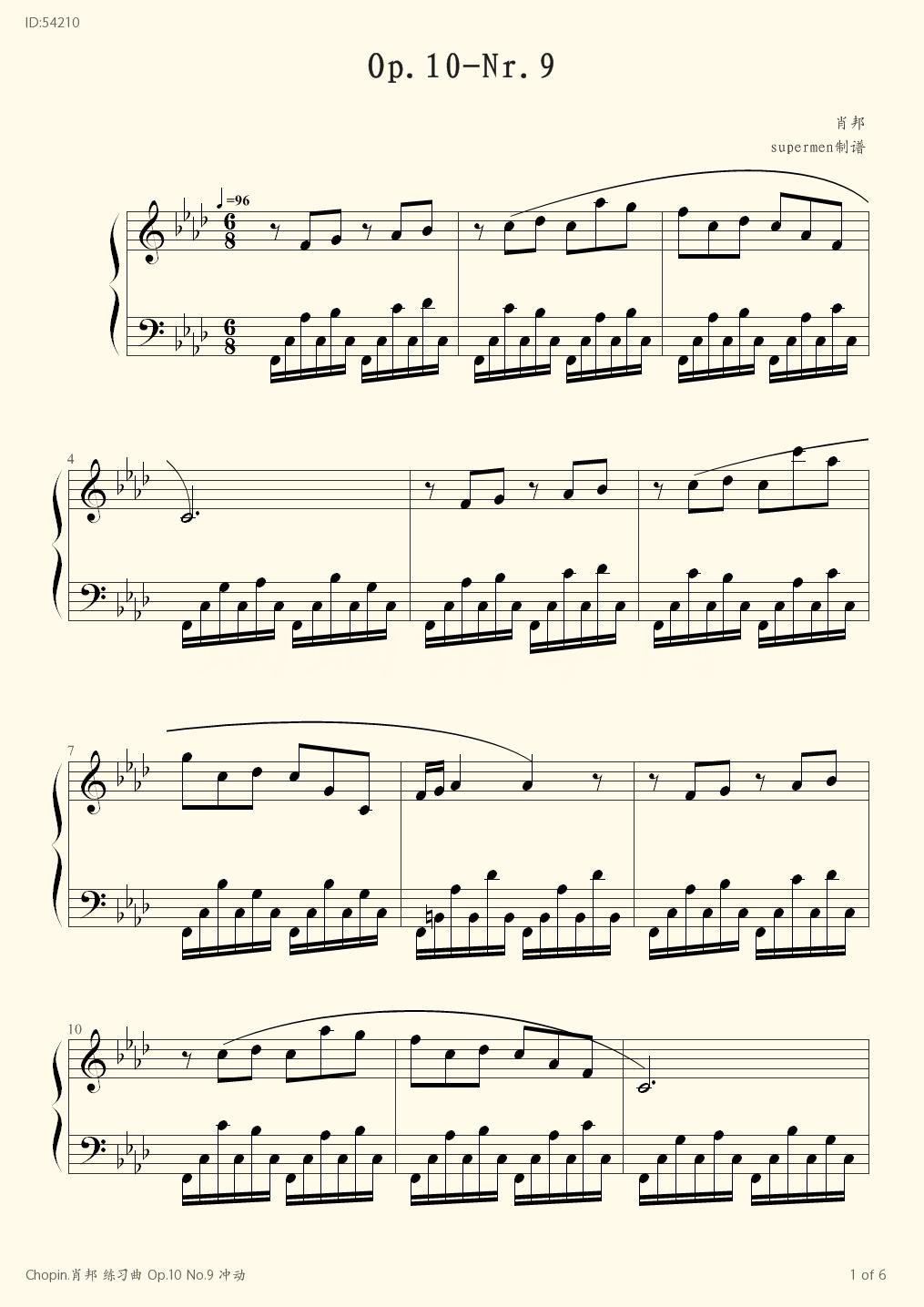 Chopin Op 10 No 9  - Chopin  - first page