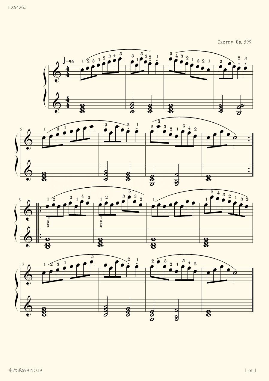 599 NO 19 - Czerny - first page
