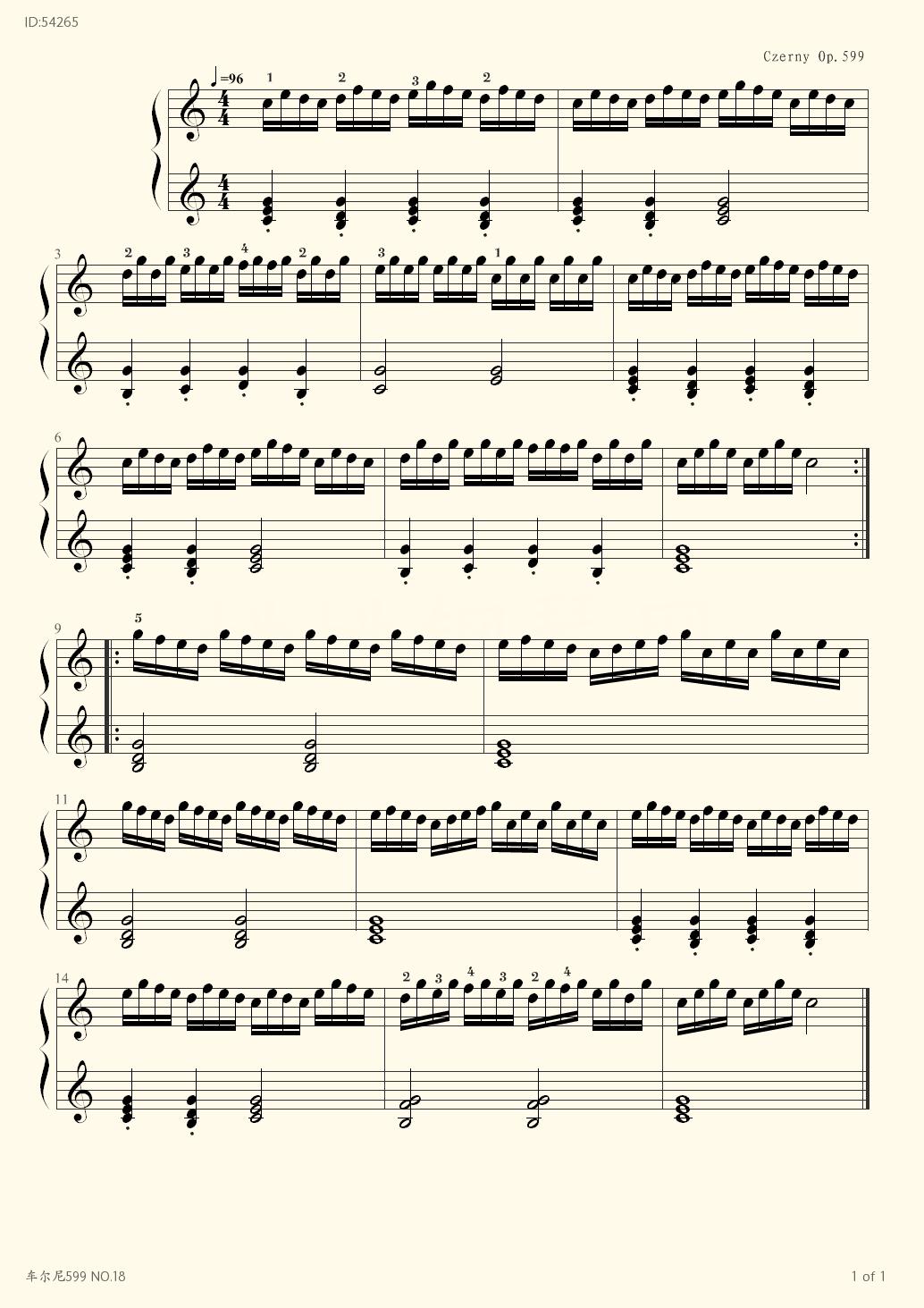 599 NO 18 - Czerny - first page
