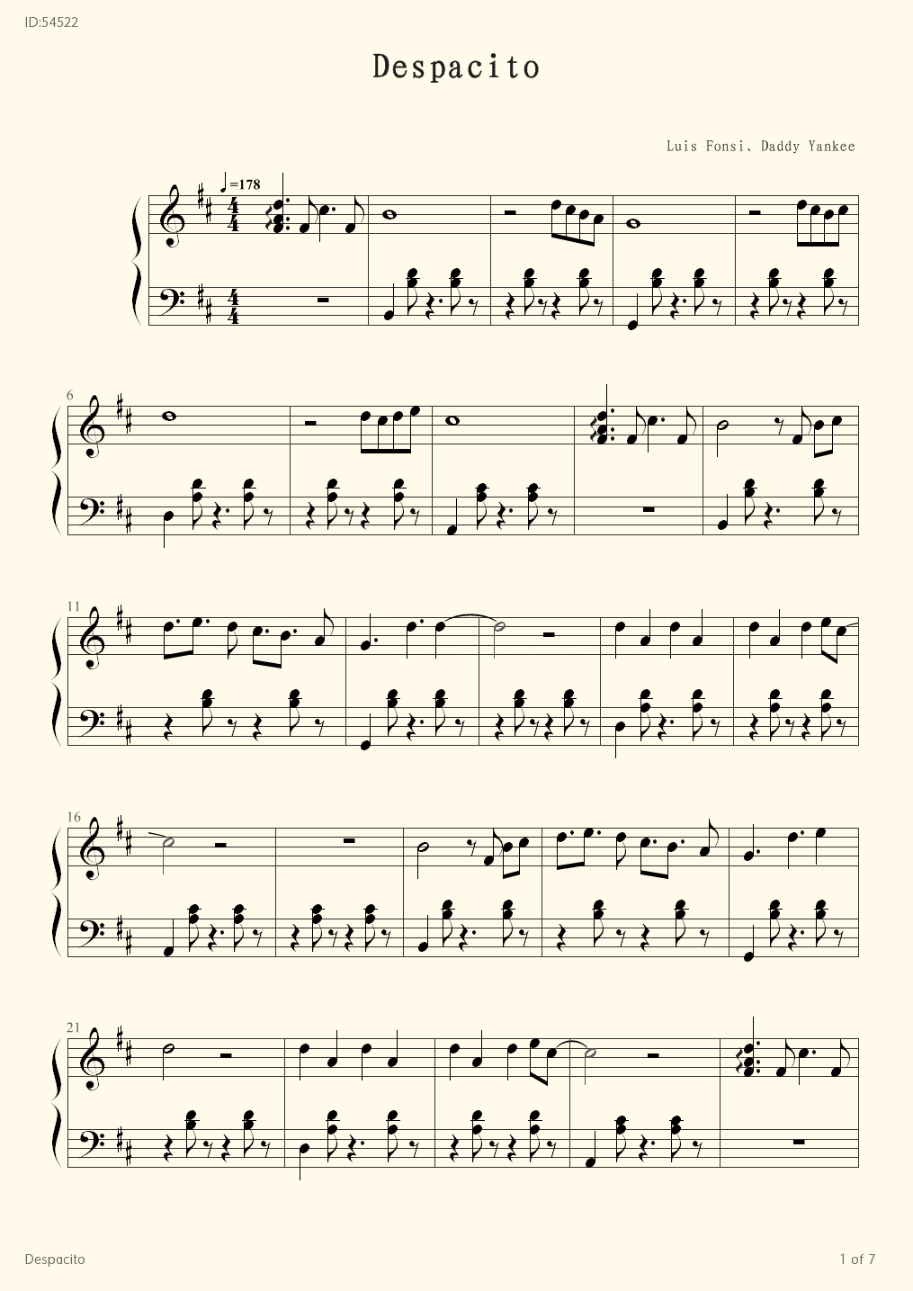 Despacito - Luis Fonsi - first page